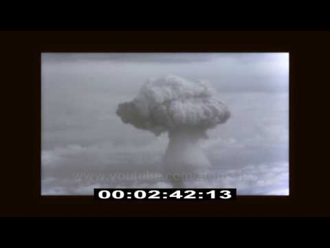 HD  核兵器 First thermonuclear weapon test  fission bomb explosion uneidted footage 核彈 氫彈 原子彈