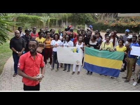 Manifestation anti-Bongo devant l'ambassade du Gabon au Maroc