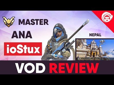 Overwatch VOD Review - ioStux - Master Ana Nepal Gameplay Review | Overwatchdojo Coaching OwDojo