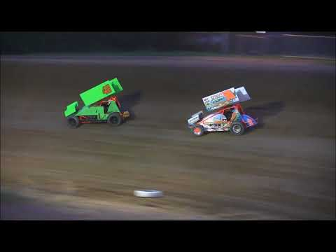 305 Sprint Car Feature from Atomic Speedway, August 2nd, 2018. - dirt track racing video image