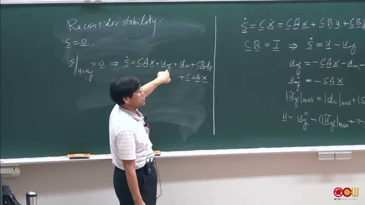 Ch4 線性非時變系統之順滑模態控制法則設計 (3/3) - YouTube