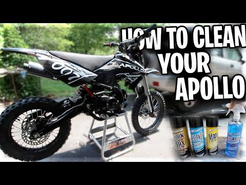"HOW I CLEAN MY APOLLO BIKE AFTER EVERY RIDE! ""Apollo 125 Pit Bike Taken Apart"""