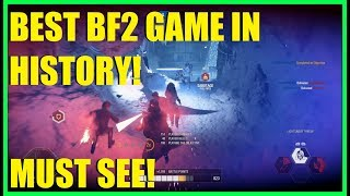 Star Wars Battlefront 2 - THE MOST EXCITING MATCH IN BF2 HISTORY!   GREATEST GAME EVER! (MUST SEE)