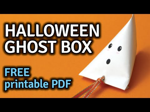 Halloween Ghost Treat Boxes - DIY Printable Free File - Easy Crafts For Kids