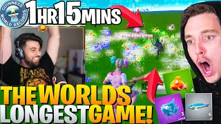 I BROKE Lazarbeam's WORLD RECORD! (Longest Game Of Fortnite EVER)