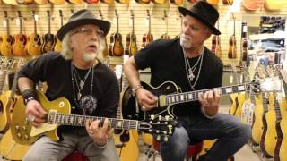 brad whitford and derek st holmes playing gibson les pauls