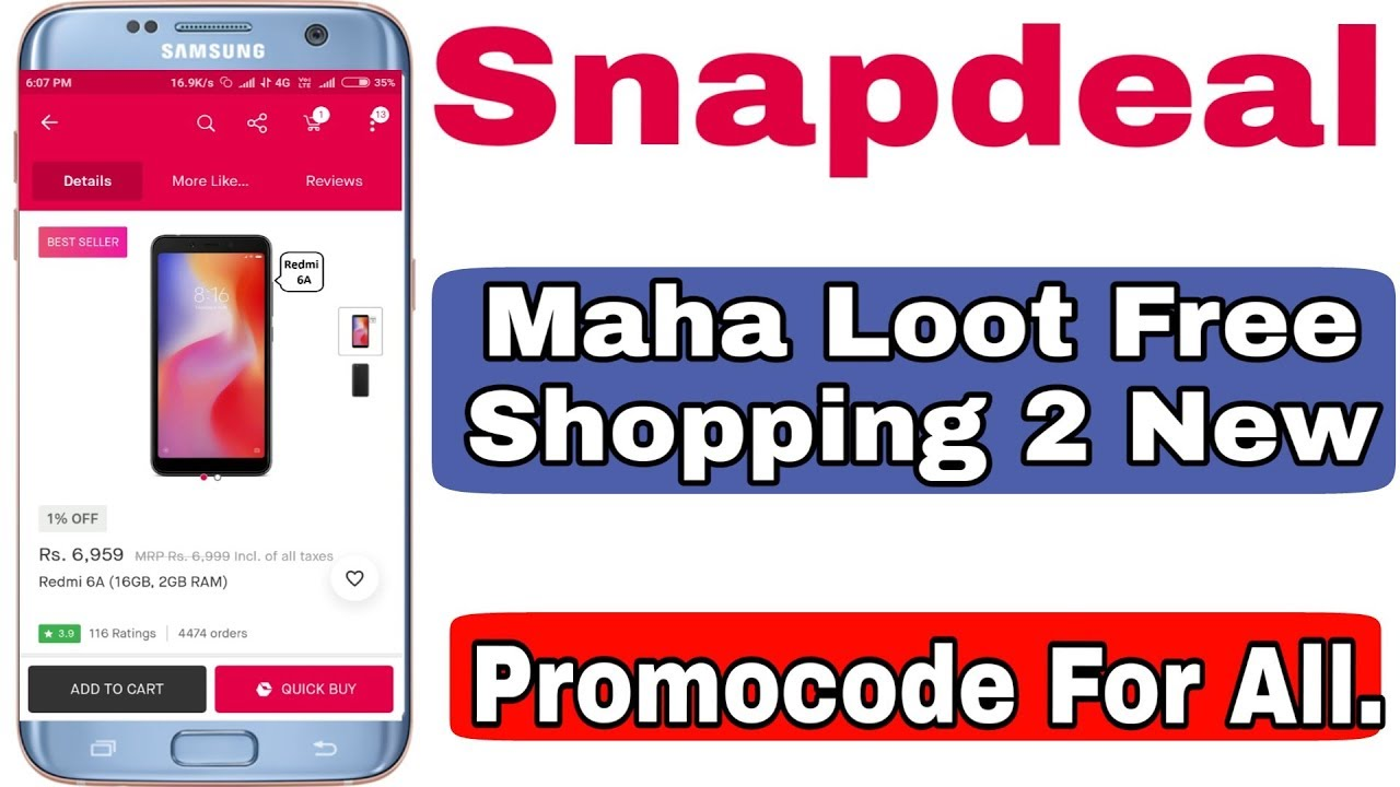 266bf3c3d8c Snapdeal Maha Loot 2 New Free Shopping Promocode - YouTube