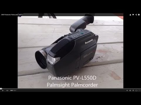 2000 Panasonic Palmcorder VHS-C