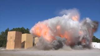 clt blast testing test 3 198 lbs of flake tnt at a distance of 75 feet hd with sound