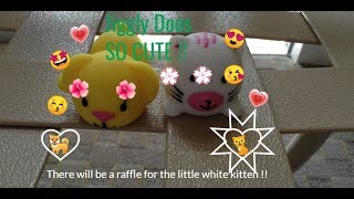 Opening Jiggly Doos!!! ( winner of the raffle keeps the little white kitten)