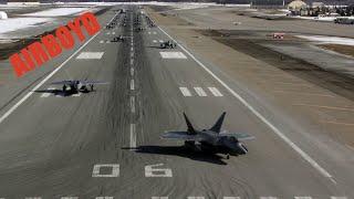 F-22 Elephant Walk And Takeoff • Joint Base Elmendorf-Richardson