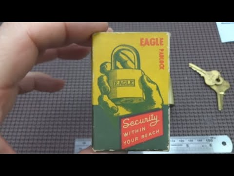 (162) Antique Eagle Padlock Picked Open
