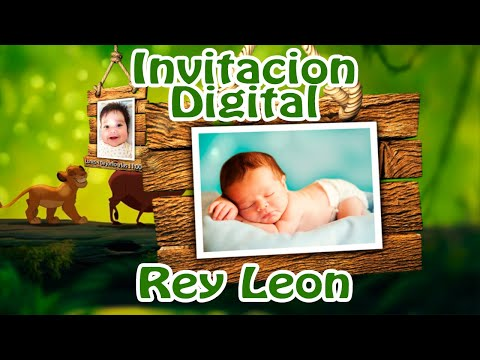 Invitaci�n Virtual Rey Le�n - Bautizo