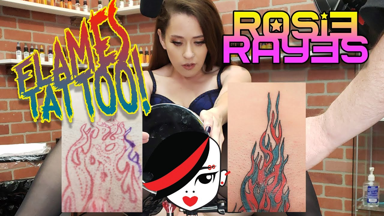 Where does Rosie get her FLAMES Tattooed?!?