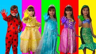 LEARN COLORS FOR CHILDREN BODY PAINT FINGER FAMILY SONG NURSERY RHYMES LEARNING VIDEO - LAURINHA !
