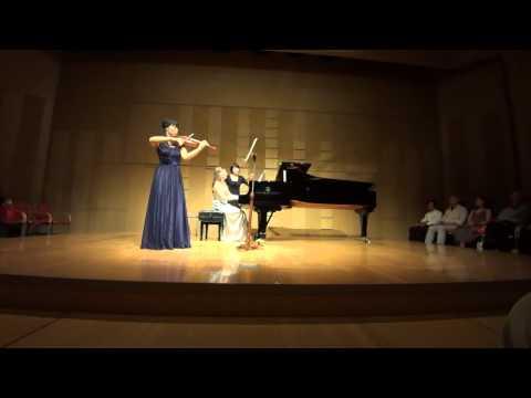 Ravel: Sonata for violin & piano in G Major, I /Ami Yokoyama & Sara Costa