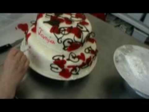 Hochzeitstorte Mit Herzen Und Namen Youtube