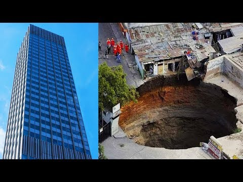 Sinkholes Caught Swallowing Things On An EPIC Scale
