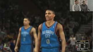 NBA 2K13 Thunder vs. Heat - Full Game 4 Quarters of Gameplay