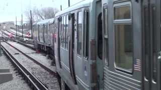 CTA Orange Line trains at Midway