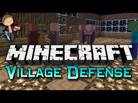 Minecraft: VILLAGER DEFENSE! Mini-Game w/Mitch & Friends!