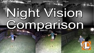 WiFi Security Cameras Night Vision Comparison - Ring, Nest, Arlo, Reolink Blink, Yi