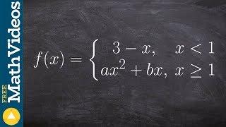 إيجاد قيم a و b التي تجعل وظيفة للاختلاف