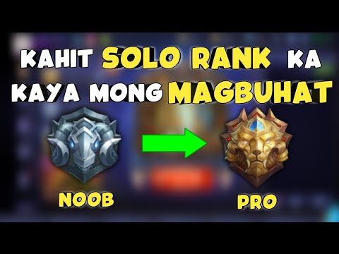Paano Makaalis sa Grandmaster at Epic Rank kahit Solo Player kalang - Mobile Legends