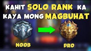 Paano Makaalis sa Grandmaster at Epic Rank kahit Solo Player kalang - Mobile Legends thumbnail