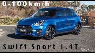 2018 Suzuki Swift Sport 0-100km/h (manual vs auto)