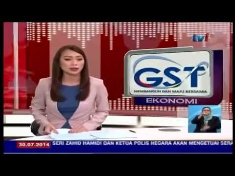 GST Malaysia - Shin Yap appearing on TV1 Malay News
