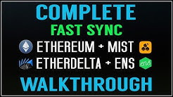 How to install Ethereum and Mist with Fast Sync + Add EtherDelta and ENS