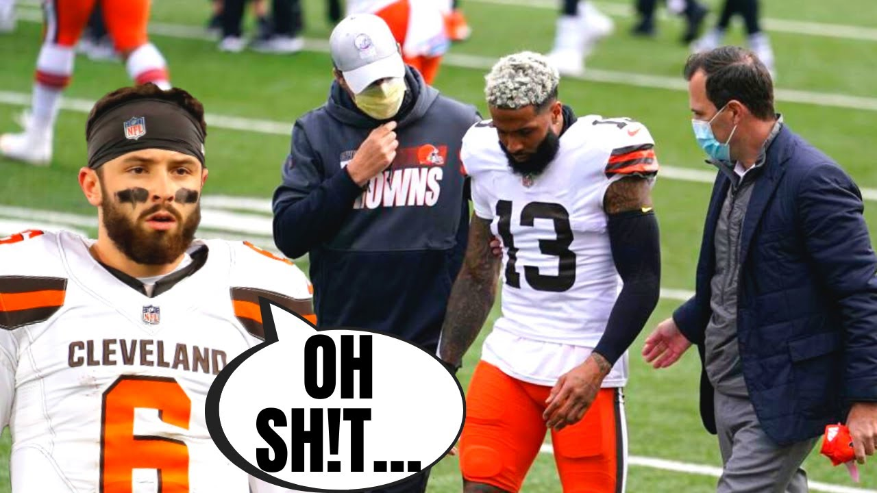Browns Odell Beckham Jr Out For The Year With Torn ACL! | Injured On Baker Interception!