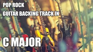 Pop Rock Guitar Backing Track In C Major / A Minor