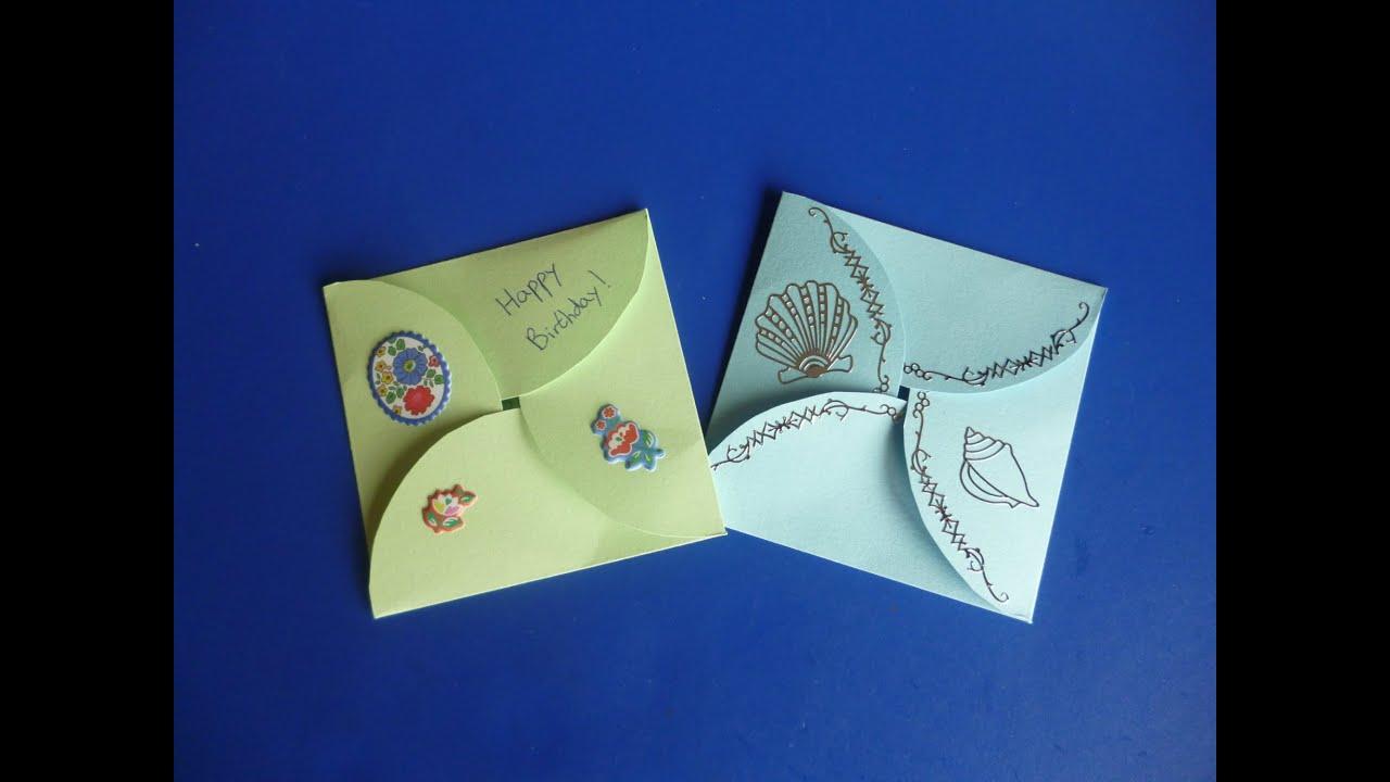 Diy Envelope Card Youtube