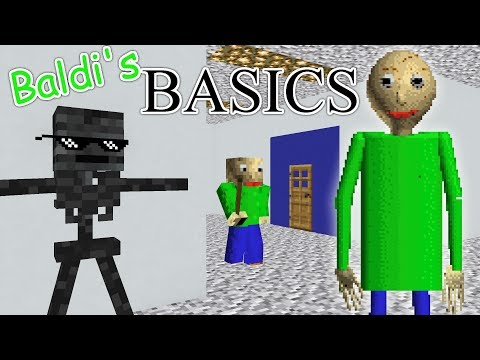 Monster School : BALDI'S BASICS HORROR GAME - Minecraft Animation