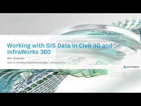 Webcast June 1st - Working with GIS Data in InfraWorks 360 and Civil 3D