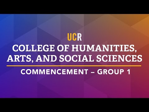 UCR College of Humanities, Arts, and Social Sciences Commencement - Group 1