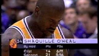 nba 1998 playoffs utah jazz v la lakers (karl malone v kobe bryant, shaq v john stockton) pt3