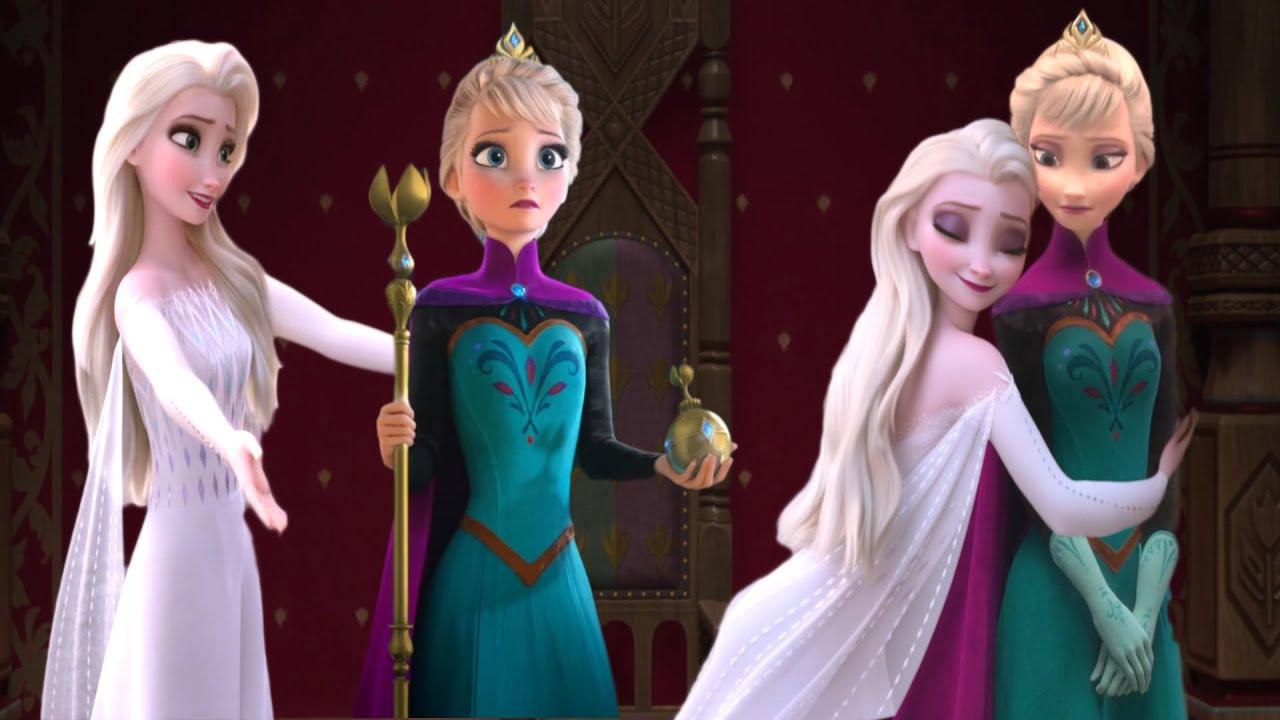Download Elsa White dress Frozen 2 VS Elsa Coronation Frozen 1 ?