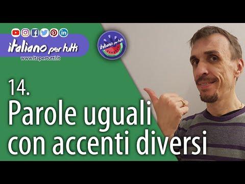 14 parole uguali con accenti diversi youtube - Parole uguali con significati diversi ...