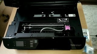 HP 3545 First Start and USB Setup(HP Deskjet 3540 Series Ink Advantage Inkjet printer first power on, cartridge installation and usb setup., 2014-07-28T19:48:14.000Z)