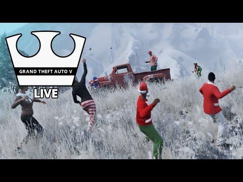 Jirka a GEJMR Hraje - GTA V - Je tu sníh! [PC] [LIVE]
