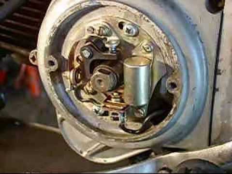 honda 90 c200 kick pedal fix points install timing www rh youtube com