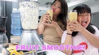 My breakfast every morning (FRUIT SMOOTHIE!)