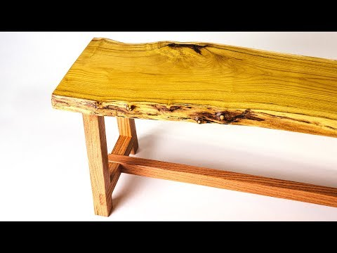 Making a Live Edge Wood Bench | Woodworking | How to