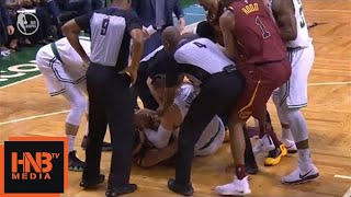 Larry Nance Jr. & Aron Baynes crazy fight for the ball / Cavaliers vs Celtics Game 2