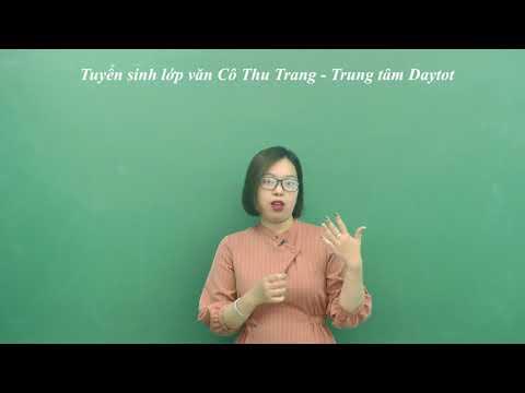 Tuyển sinh lớp văn Cô Thu Trang - Trung tâm Daytot