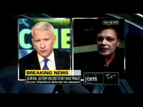 Anderson Cooper Interviews Andrew Wakefield, Fraud (2 of 2)