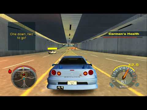 Need For Speed Undercover (PS2) - Driver Job / Mission: Save Carmen / Nissan Skyline GTR R34